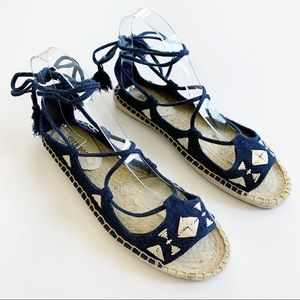 NEW✨Soludos Biarritz Lace Up Espadrilles Sandals